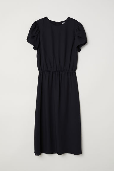 Satin dress - Black - Ladies | H&M