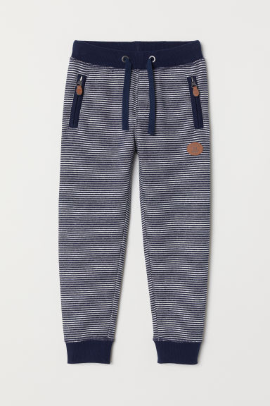 Joggers - Dark blue/White striped - Kids | H&M CN