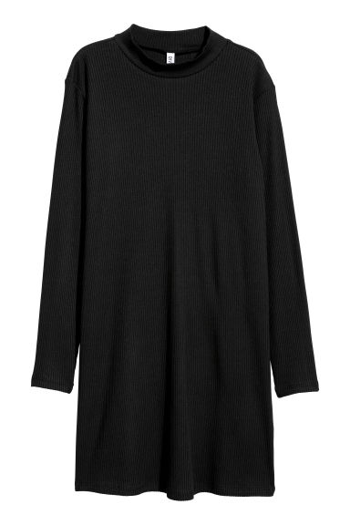 Turtleneck dress - Black - Ladies | H&M GB