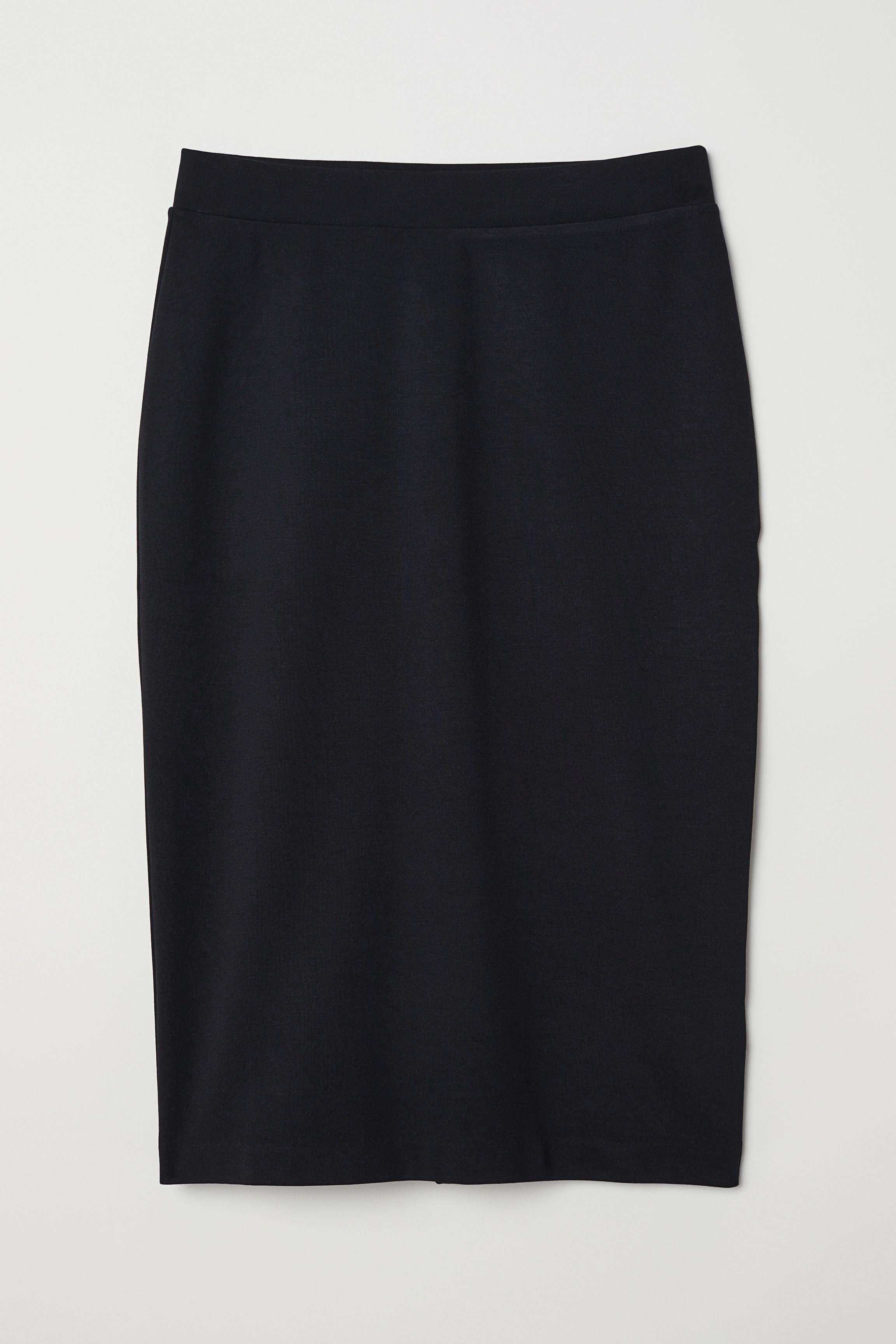 897cf7cf36 Jersey Pencil Skirt - Black - Ladies | H&M US