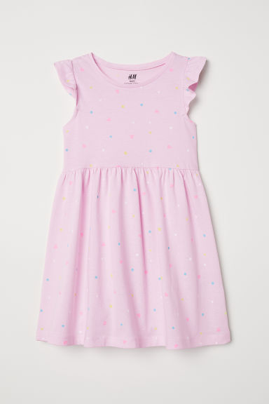 Jersey dress - Light pink/Spotted - Kids | H&M