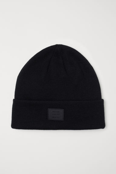Fine-knit hat - Black -  | H&M CN