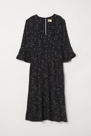 Patterned Dress - Black/patterned - Ladies | H&M US