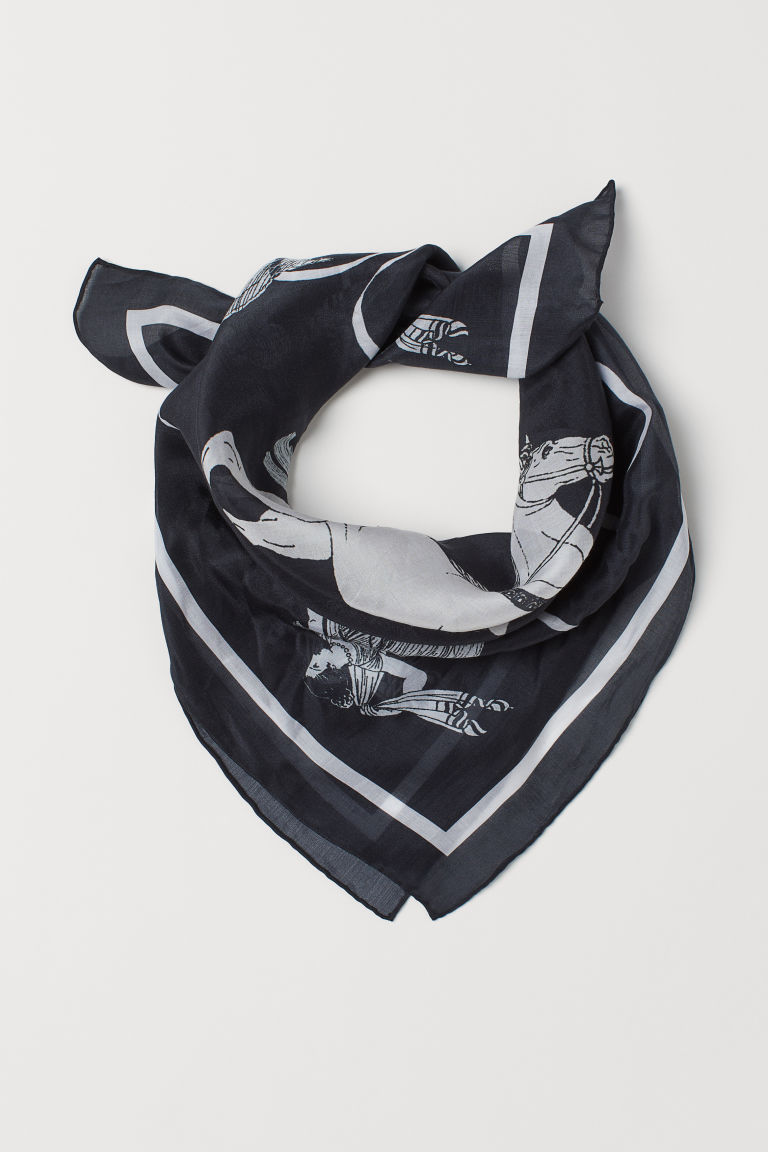 Silk-blend Scarf - Black - Ladies | H&M US