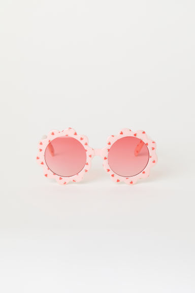 Flower-shaped sunglasses - Light pink/Strawberries - Kids | H&M CN
