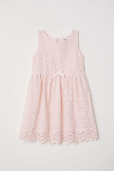 Sleeveless lace dress - Light pink - Kids | H&M