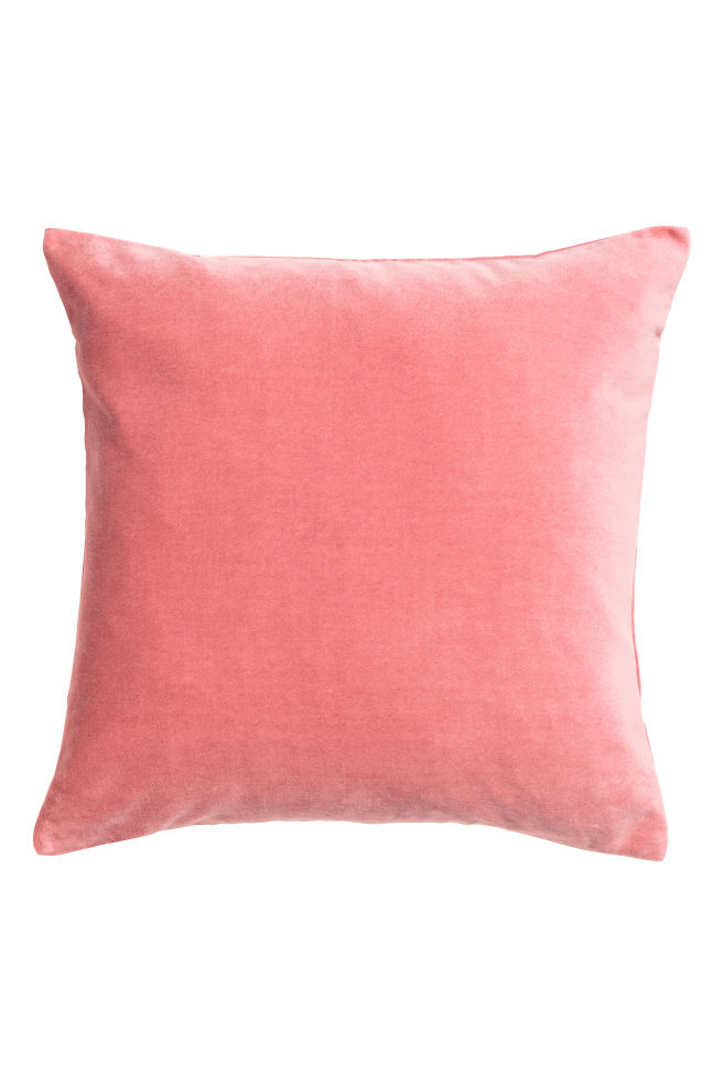 8a77521eb187 Velvet cushion cover - Pink - Home All | H&M ...