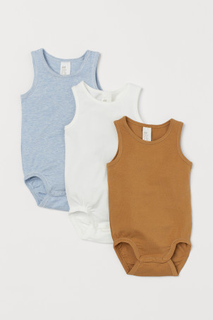 3-pack pima cotton bodysuits