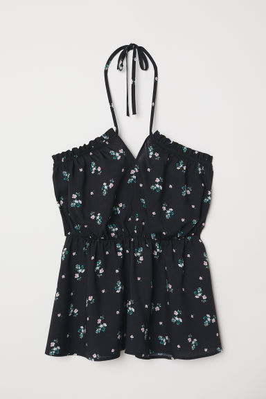 Top in viscosa - Nero/fiori - DONNA | H&M IT