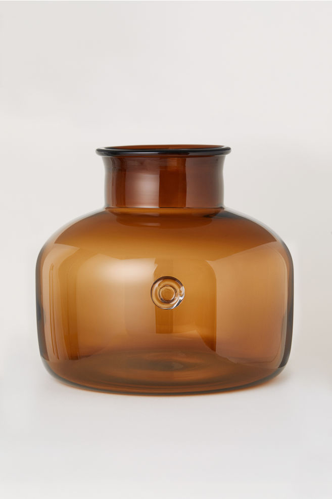 Large Glass Vase Brown Home All Hm Us