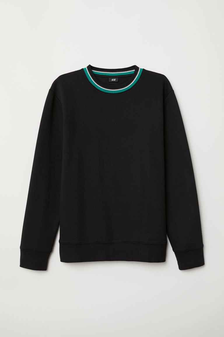Sweatshirt - Black - Men | H&M CN