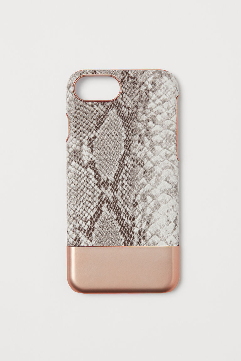 iPhone 6/8 case - Rose gold-colour/Snake pattern - Ladies | H&M CN