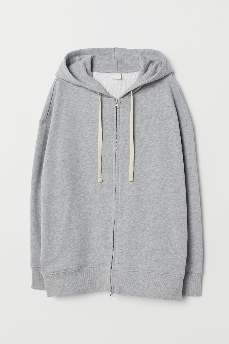 Hooded Jacket - Gray melange - Ladies | H&M CA