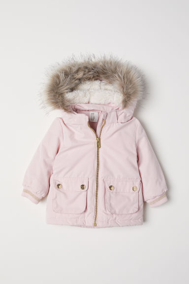 Wattierter Parka - Hellrosa - Kids | H&M AT
