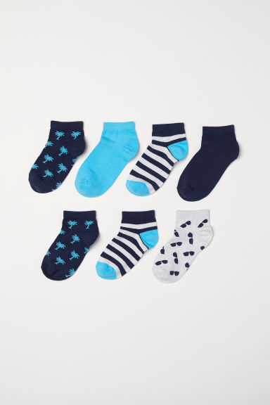 7-pack trainer socks - Light turquoise/Palm trees - Kids | H&M
