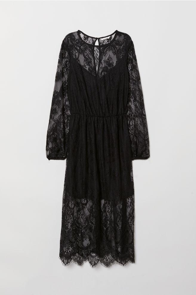 a82be9abf813 Black Lace Dress Hm – Little Black Dress | Black Lace Bridesmaid Dresses