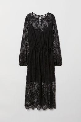 Krajkové šaty do půli lýtek 969045bf1f4