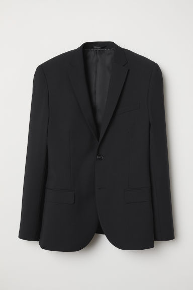 Wool-blend jacket Skinny Fit - Black - Men | H&M