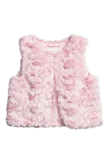 Faux fur gilet - Light pink - Kids | H&M CN