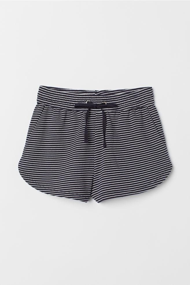 8fe21f7a6f488 ... Pantalón corto de chándal - Azul oscuro Rayas blancas - MUJER