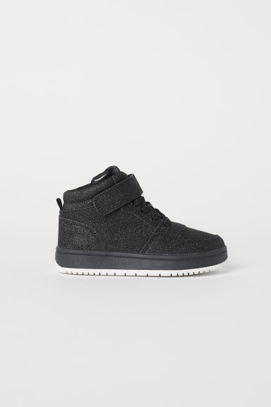 Hi-top trainers - Black/Glitter -  | H&M