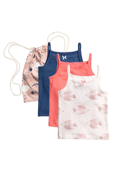 3-pack tops in a fabric bag - Coral - Kids | H&M CN