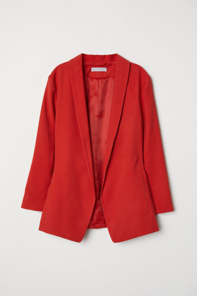 Shawl collar jacket - Red - Ladies | H&M CN