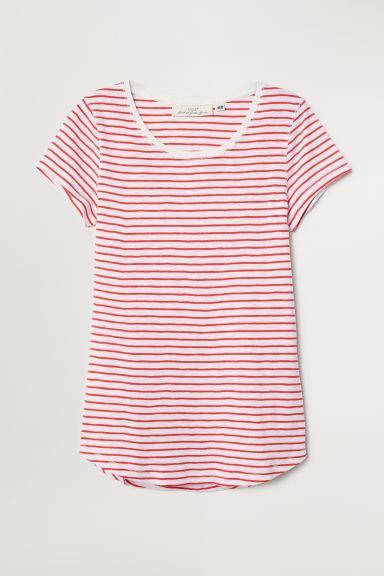 5e19eb19a59 Striped Jersey Top - White red striped - Ladies