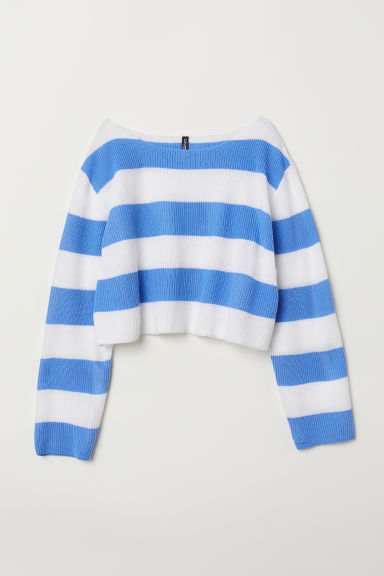 Striped top - Blue/White striped - Ladies | H&M