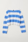 Blue/White striped