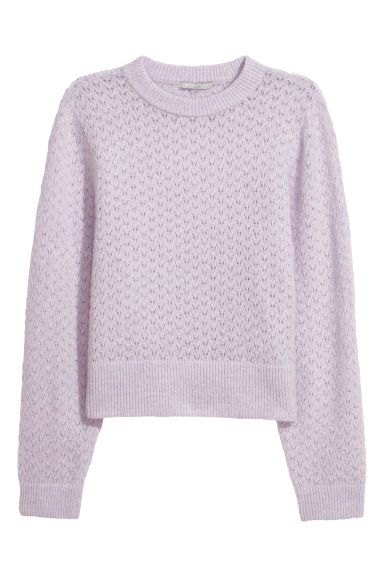 Mohair-blend jumper - Light purple -  | H&M CN