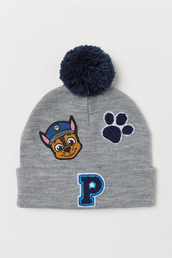3b759020af171 Fine-knit hat - Grey marl Paw Patrol - Kids