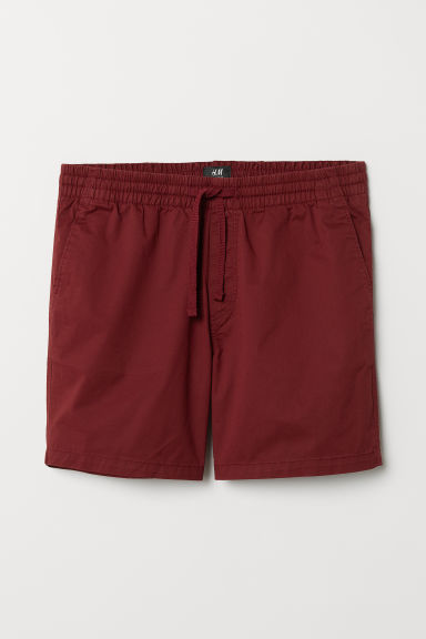 Cotton shorts Relaxed fit - Burgundy - Men | H&M