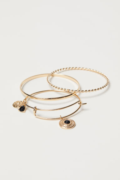 3-pack bangles - Gold-coloured - Ladies | H&M