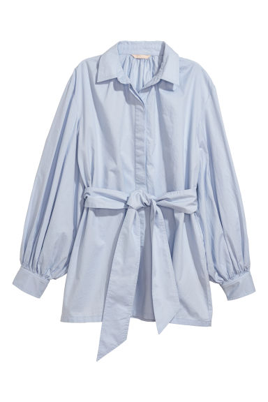 Cotton blouse - Light blue - Ladies | H&M IE