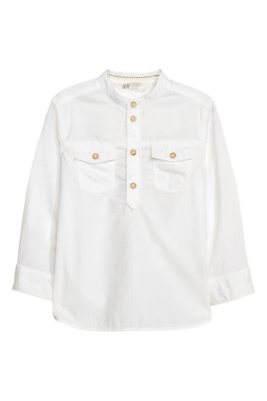 Grandad shirt - White -  | H&M