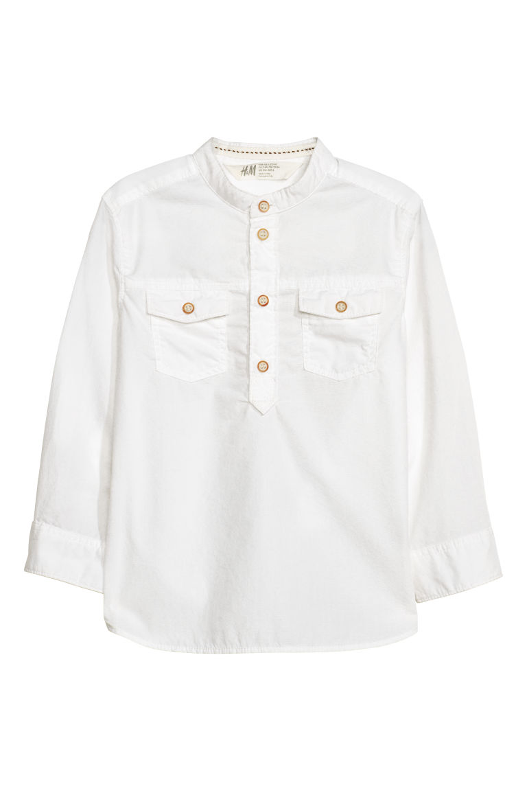 Grandad shirt - White - Kids | H&M CN