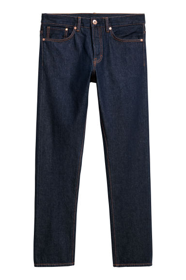 Straight Jeans - Blu denim scuro - UOMO | H&M IT