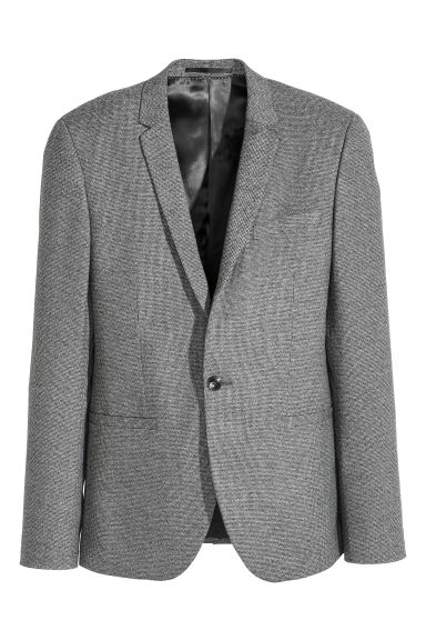 Marled jacket Slim fit - Grey marl -  | H&M