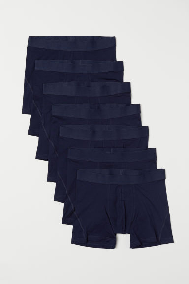 7-pack mid trunks - Dark blue - Men | H&M IN
