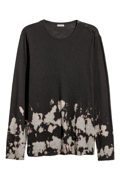 Bleached top - Black/Bleached -  | H&M