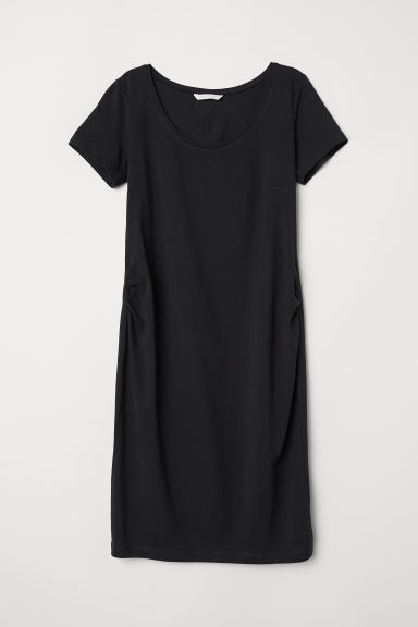 MAMA Jersey dress - Black -  | H&M CN