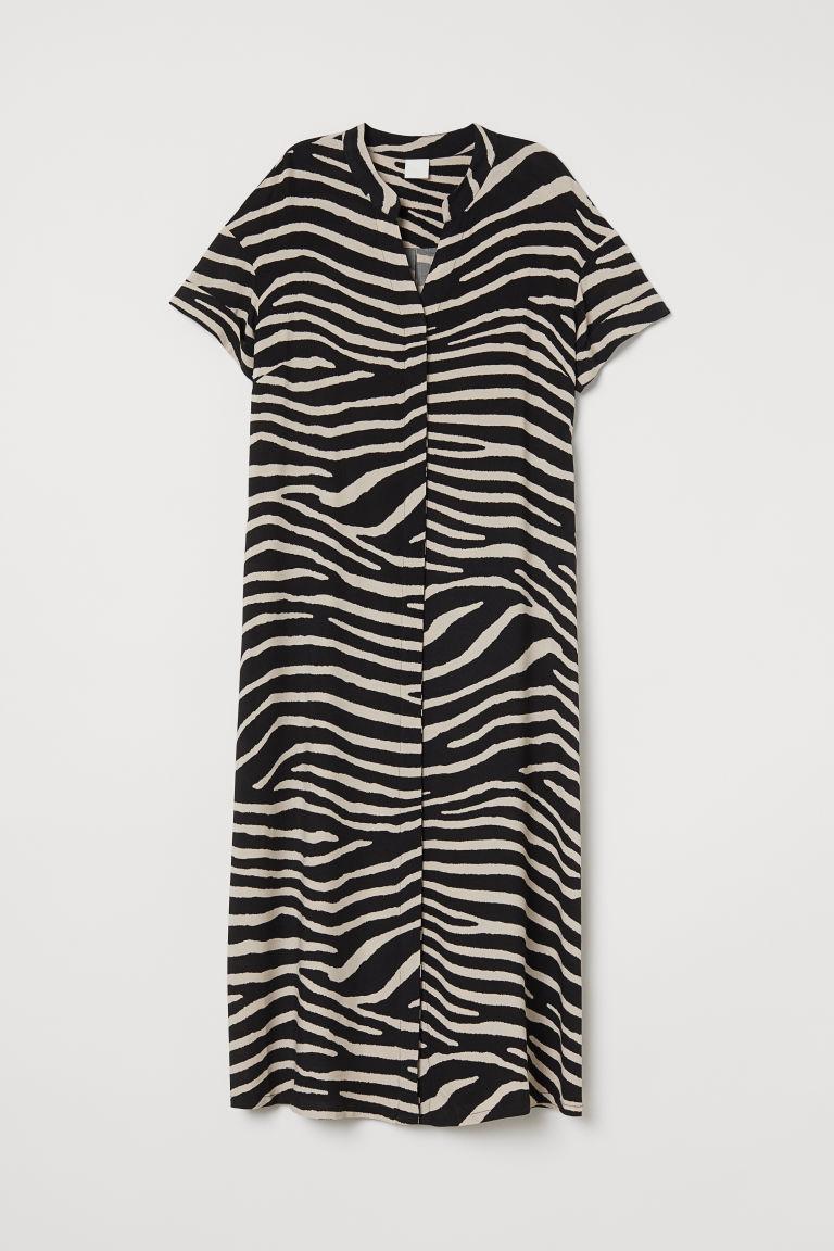 Kaftan Dress Black Zebra Print Ladies H Amp M Us