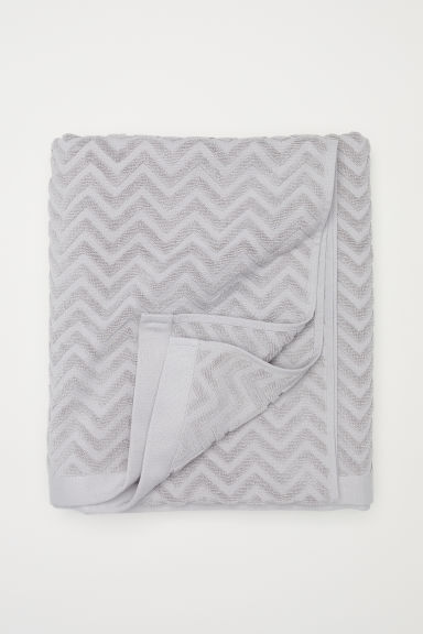 Jacquard-weave bath sheet - Light grey - Home All | H&M IE
