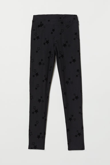 Treggings - Black/Stars - Kids | H&M