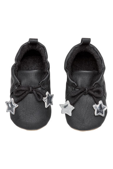 Terry-lined slippers - Black - Kids | H&M