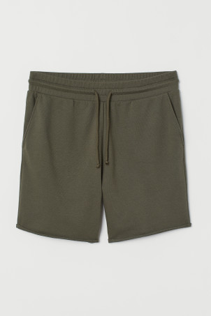 Raw-edged sweatshirt shorts