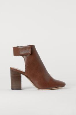 68d9d782f61 Open-heeled Boots