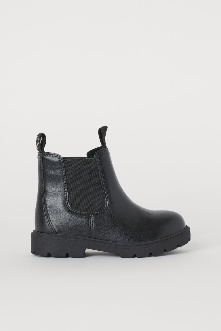 Warm-lined Chelsea boots - Black - Kids | H&M