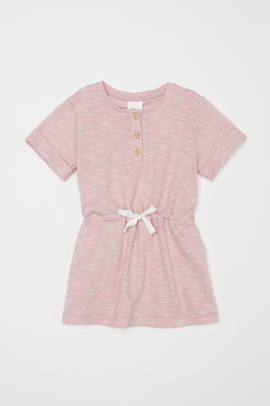 Slub jersey dress - Powder pink - Kids | H&M